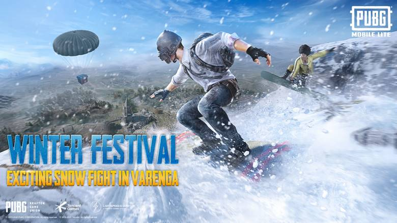 PUBG Mobile Lite gets snowboarding and other winter festivities in Update 0.20.0