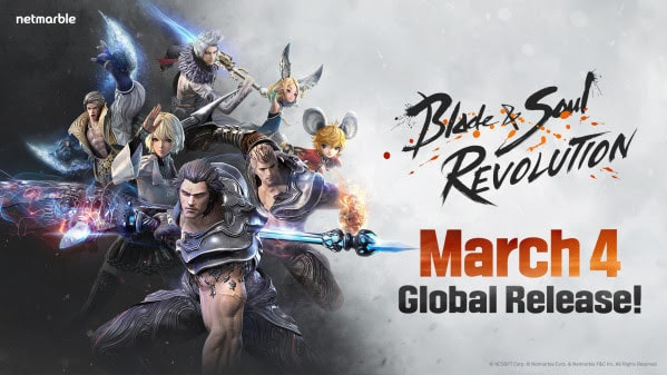 Blade & Soul: Revolution, Netmarble's latest open-world RPG, arrives March 4