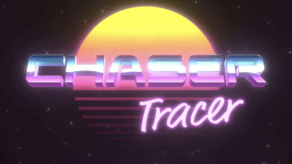 Chaser Tracer is an arcade drawing powered by Synthwave