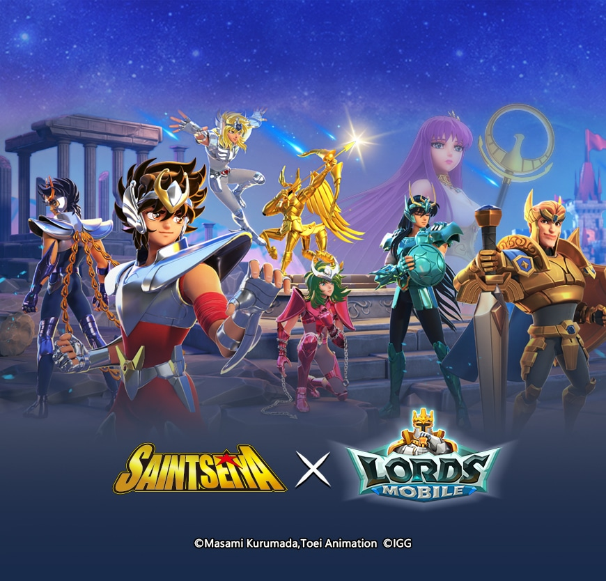 Lords Mobile gets new hero, rewards and more in Saint Seiya's Crossover event
