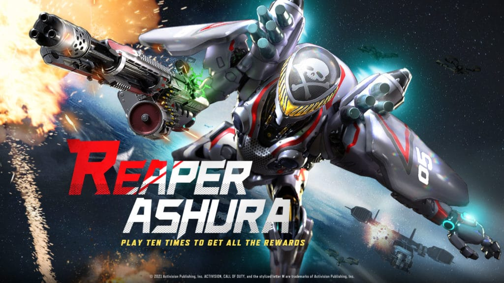 Grim Reaper designed by Shoji Kawamori - Operator Ashura is now available in Call of Duty: Mobile